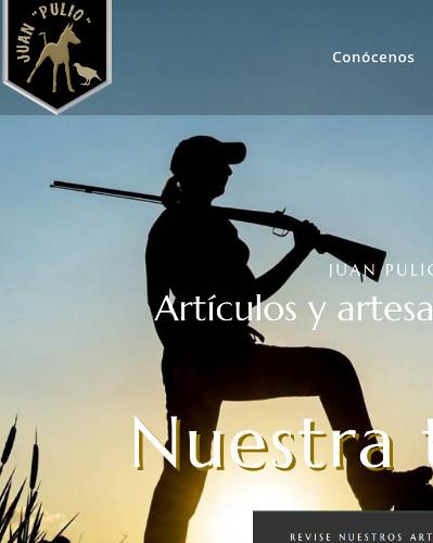 Artículos y artesanía de caza de Juan Pulio